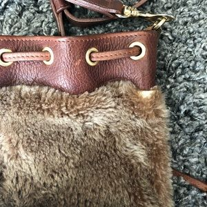 Brave Bags - Brave Leather and Fur Bucket Crossbody